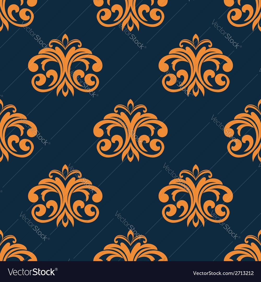 Floral orange seamless pattern vector | Price: 1 Credit (USD $1)