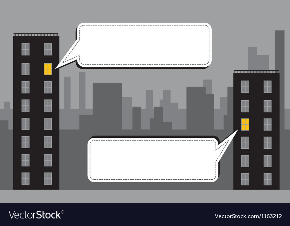 Night city message vector | Price: 1 Credit (USD $1)