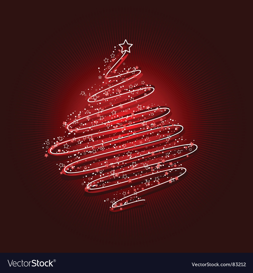 Scribble christmas tree vector | Price: 1 Credit (USD $1)