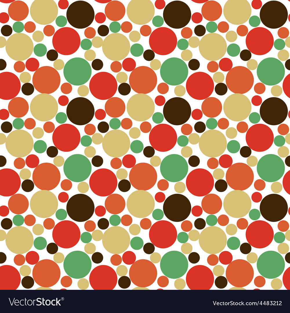 Seamless polka dot background vector | Price: 1 Credit (USD $1)