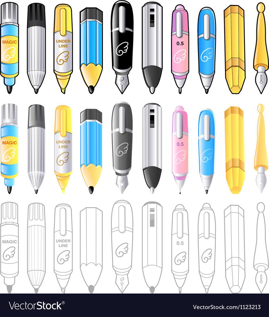 10 pen icon sets creative icon design series vector | Price: 1 Credit (USD $1)