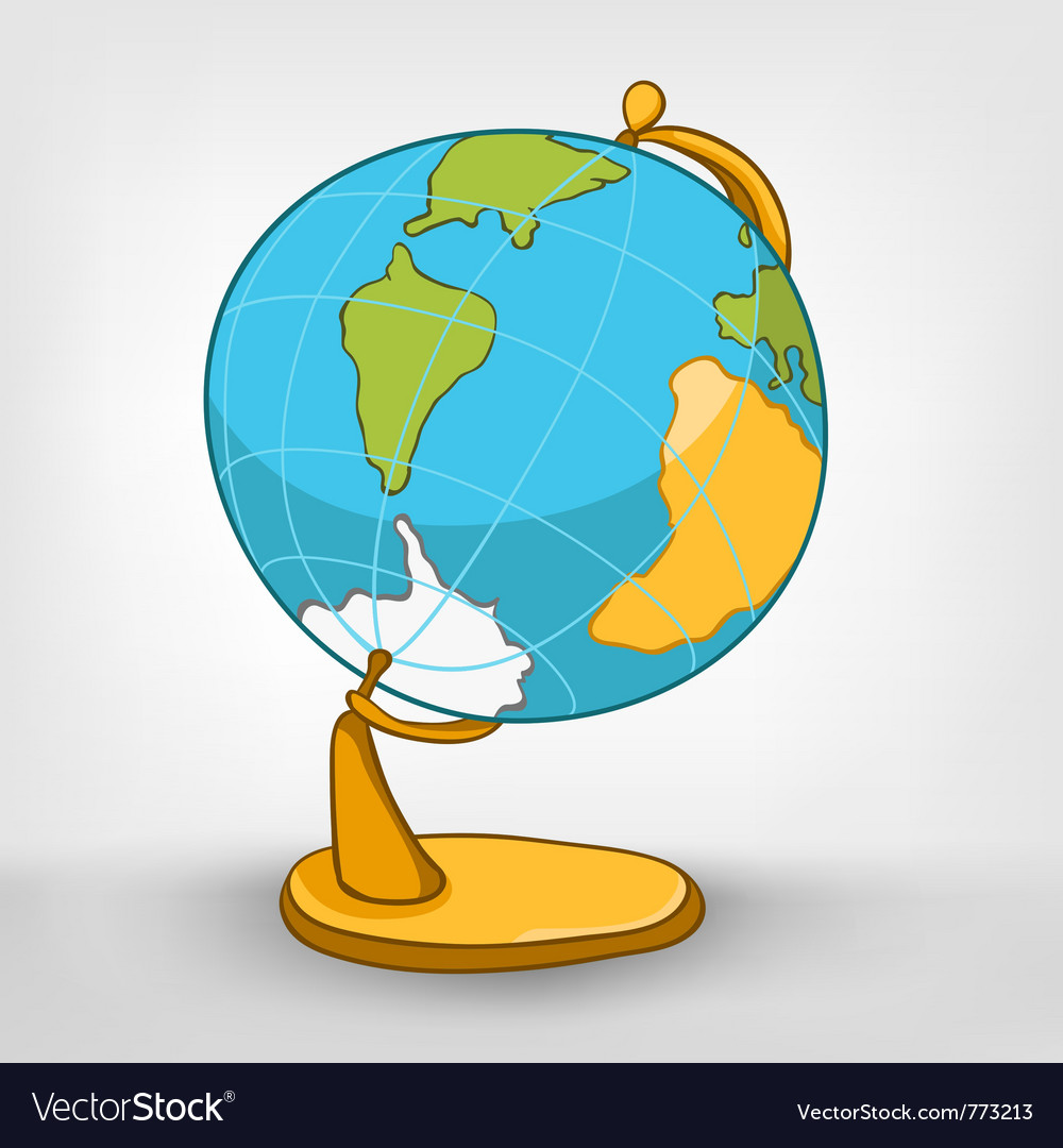 Cartoons world globe vector | Price: 1 Credit (USD $1)