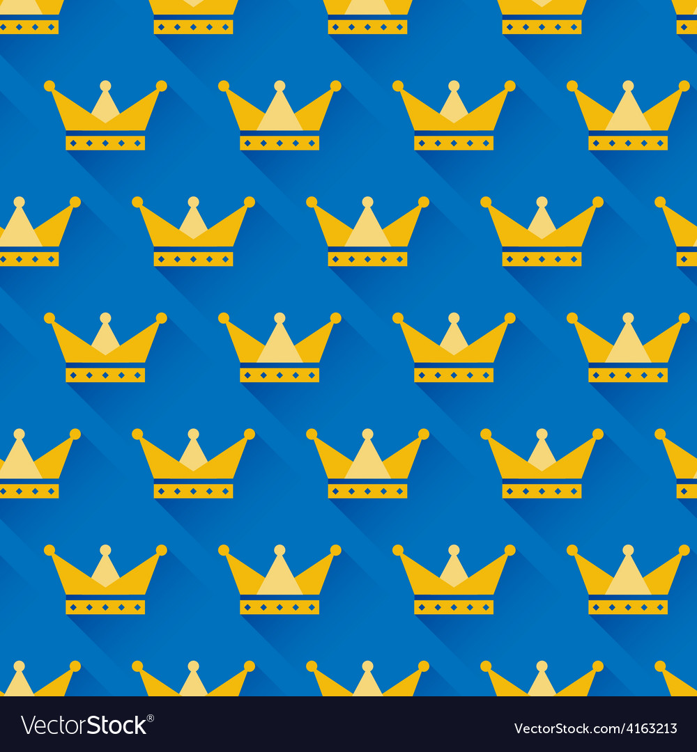 Crown seamless pattern vector | Price: 1 Credit (USD $1)