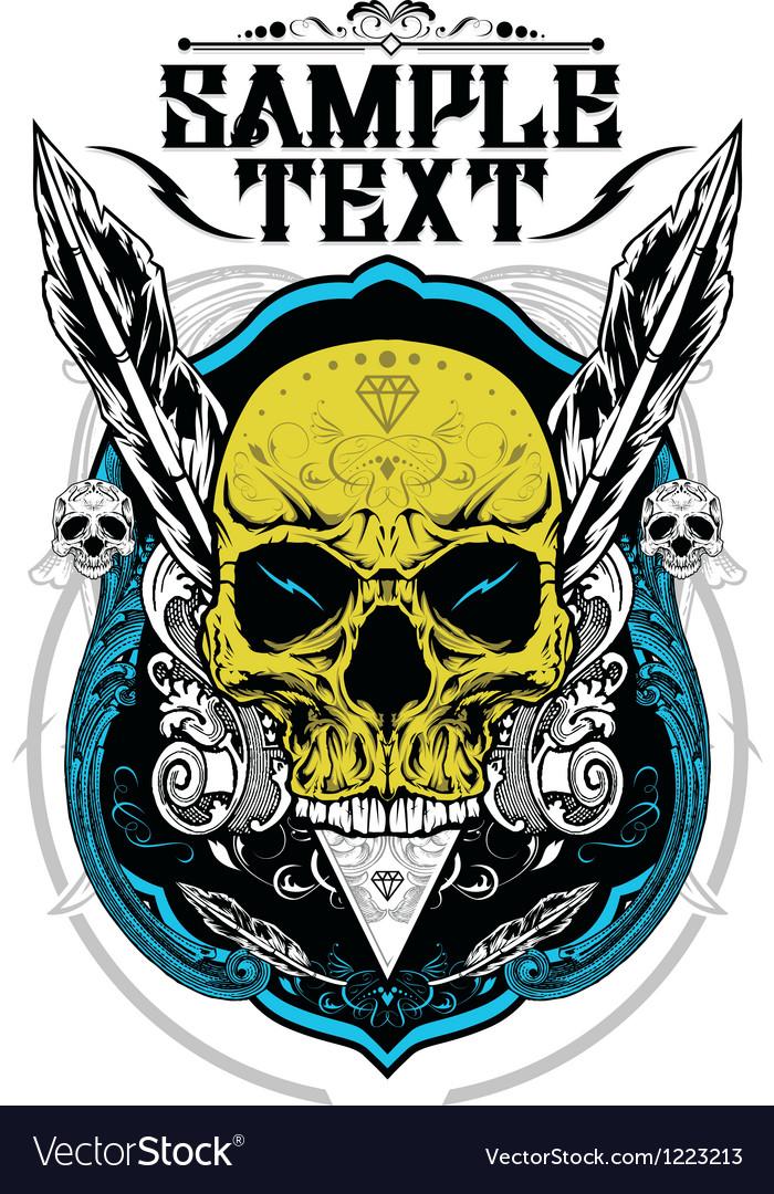 Decorative skull vector | Price: 3 Credit (USD $3)