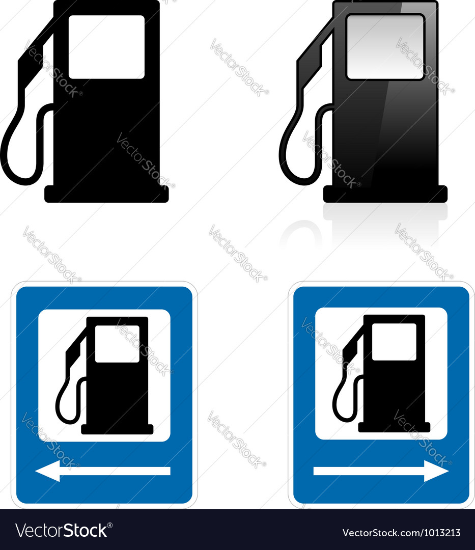 Gas station sign vector | Price: 1 Credit (USD $1)