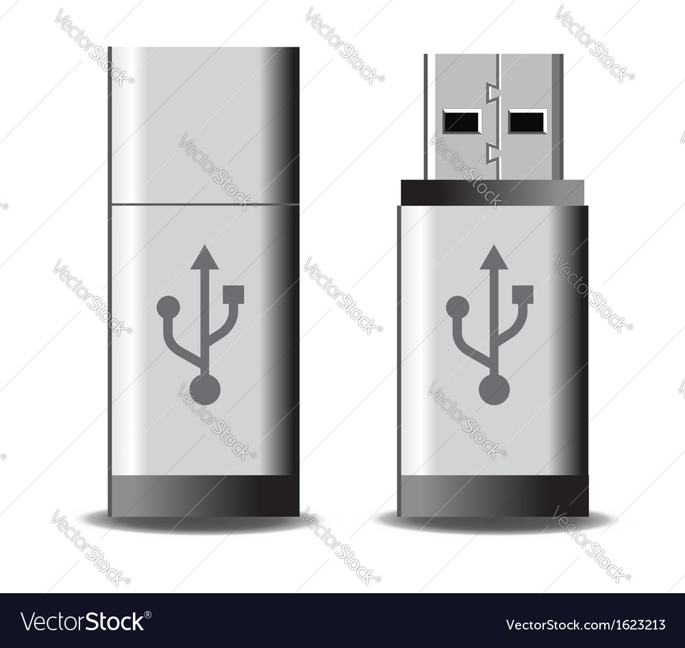 Usb flash vector | Price: 1 Credit (USD $1)