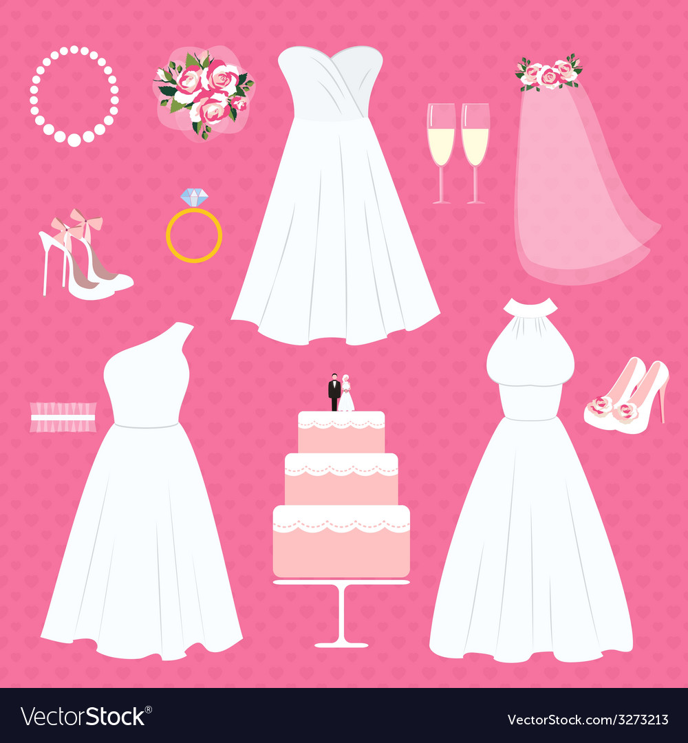 Wedding elements vector | Price: 1 Credit (USD $1)