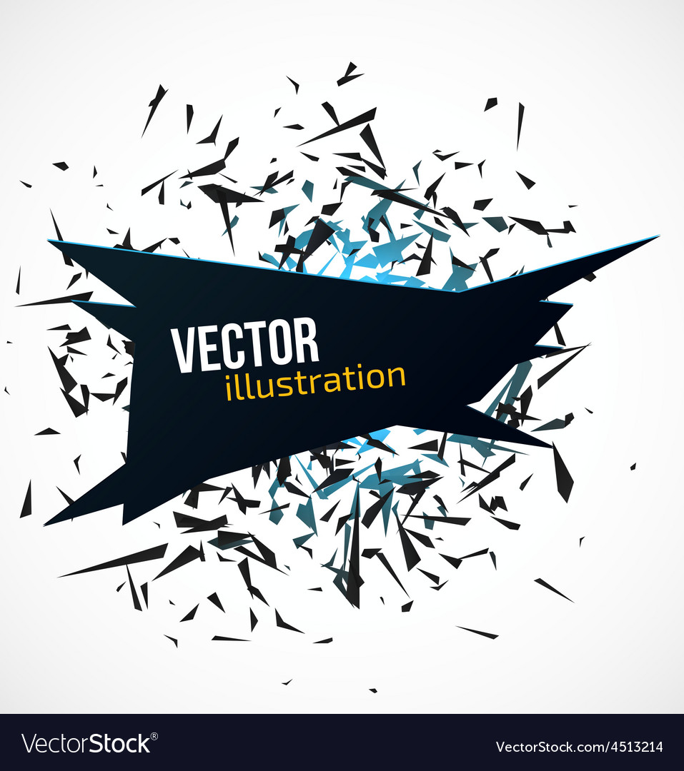 Abstract black banner with blue light explosion of vector   Price: 1 Credit (USD $1)