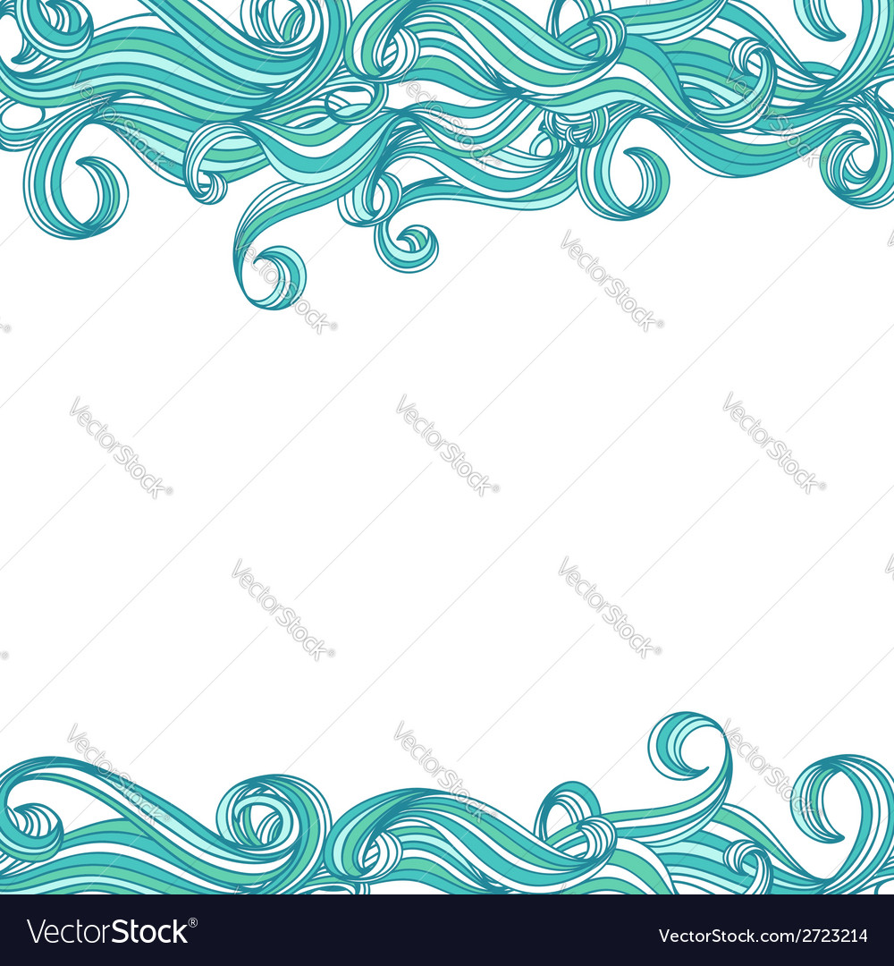 Background with hand drawn waves vector | Price: 1 Credit (USD $1)