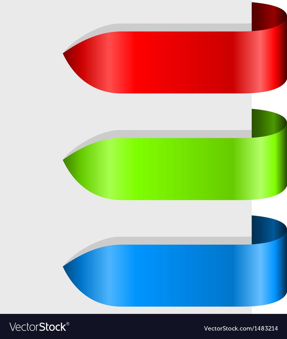 Blank color ribbon arrows design element vector | Price: 1 Credit (USD $1)