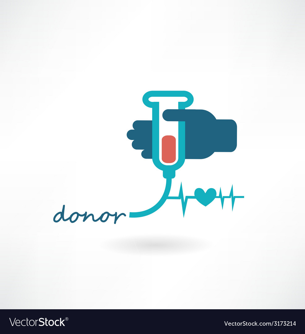 Blood donation concept vector | Price: 1 Credit (USD $1)