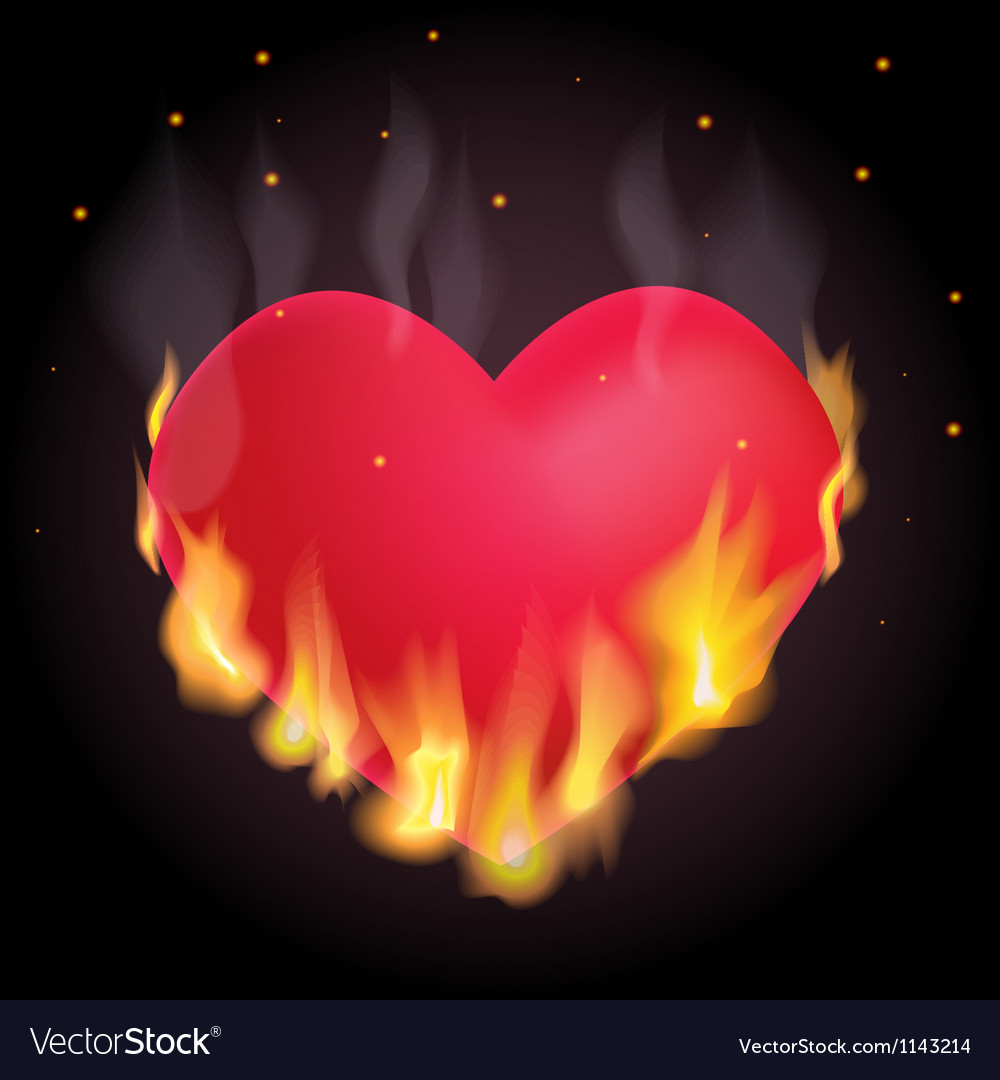 Burning heart vector | Price: 1 Credit (USD $1)