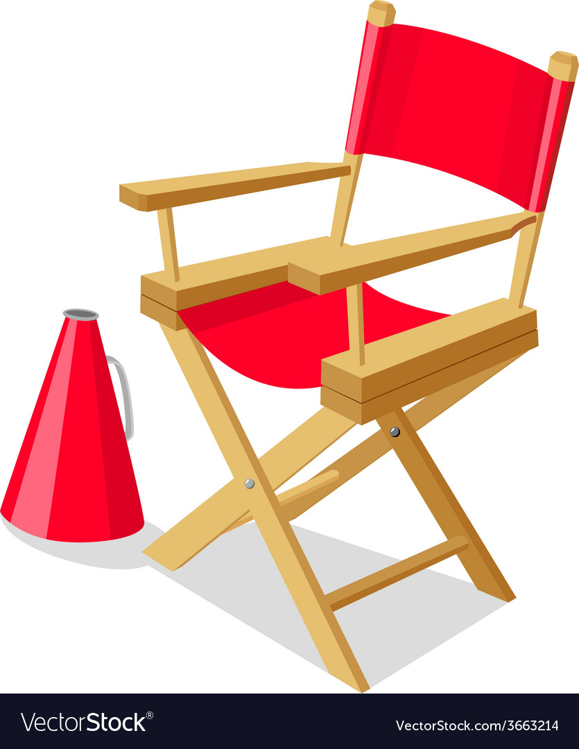 Directors chair vector | Price: 1 Credit (USD $1)