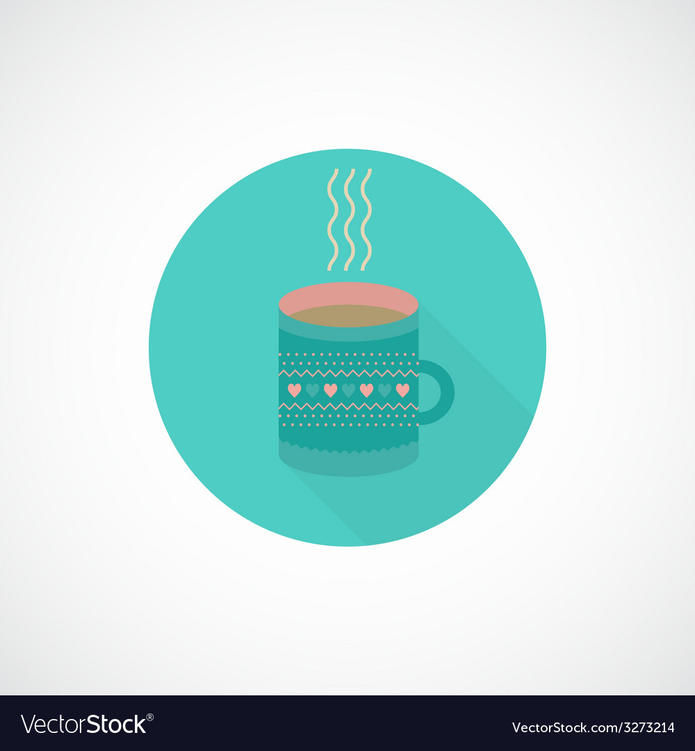 Flat icon cup of tea coffee vector | Price: 1 Credit (USD $1)