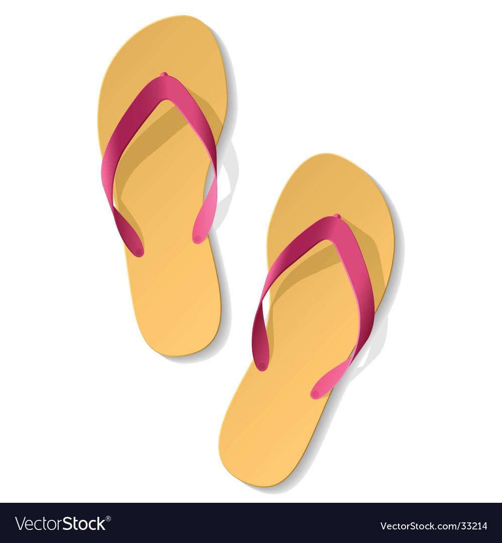 Flip flops vector   Price: 1 Credit (USD $1)