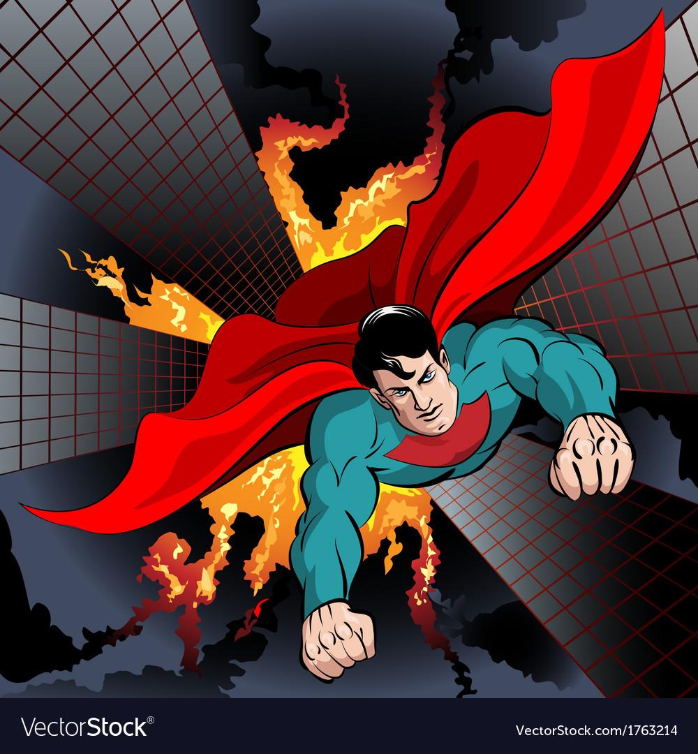 Flying superhero vector | Price: 3 Credit (USD $3)