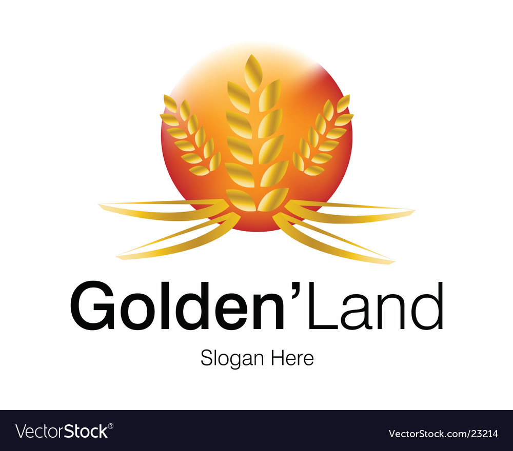 Golden land logo vector | Price: 1 Credit (USD $1)
