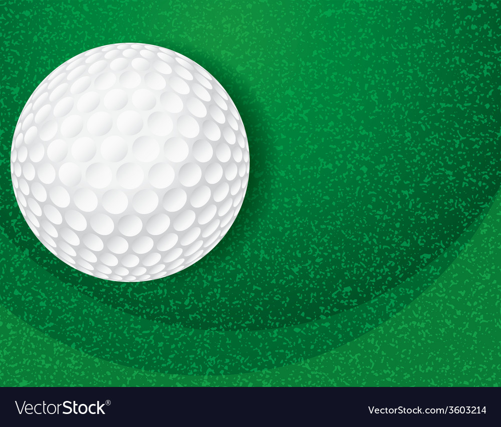 Golf ball on green textured background vector | Price: 1 Credit (USD $1)