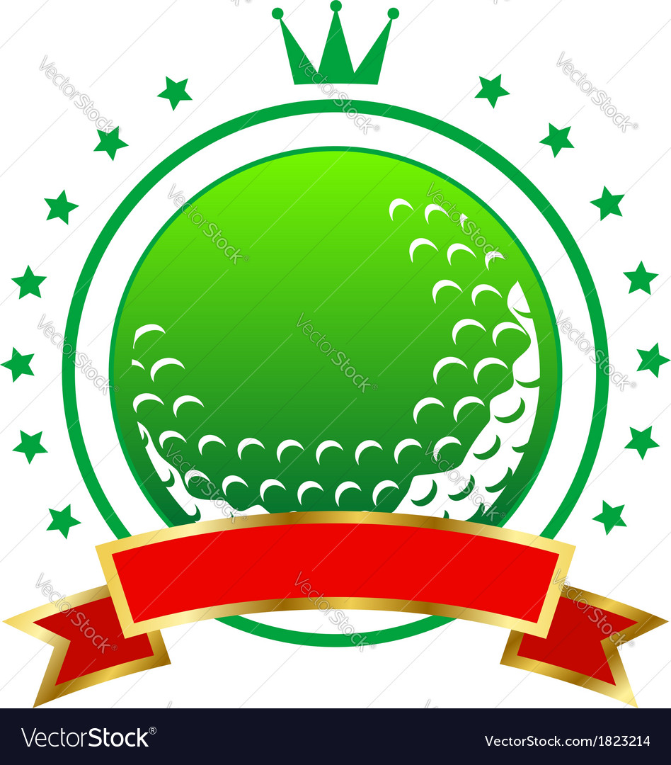 Golfing championship icon or winners banner vector | Price: 1 Credit (USD $1)