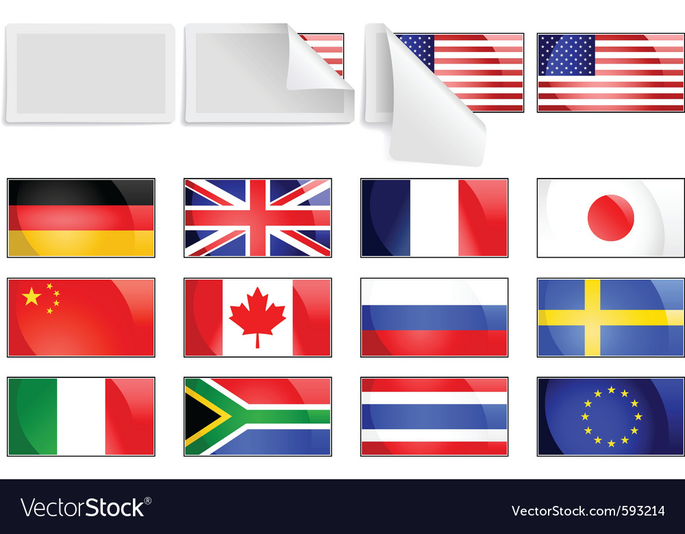 International transfer flags vector | Price: 1 Credit (USD $1)