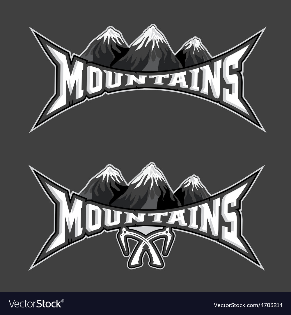 Mountains sport team emblem design template vector | Price: 1 Credit (USD $1)