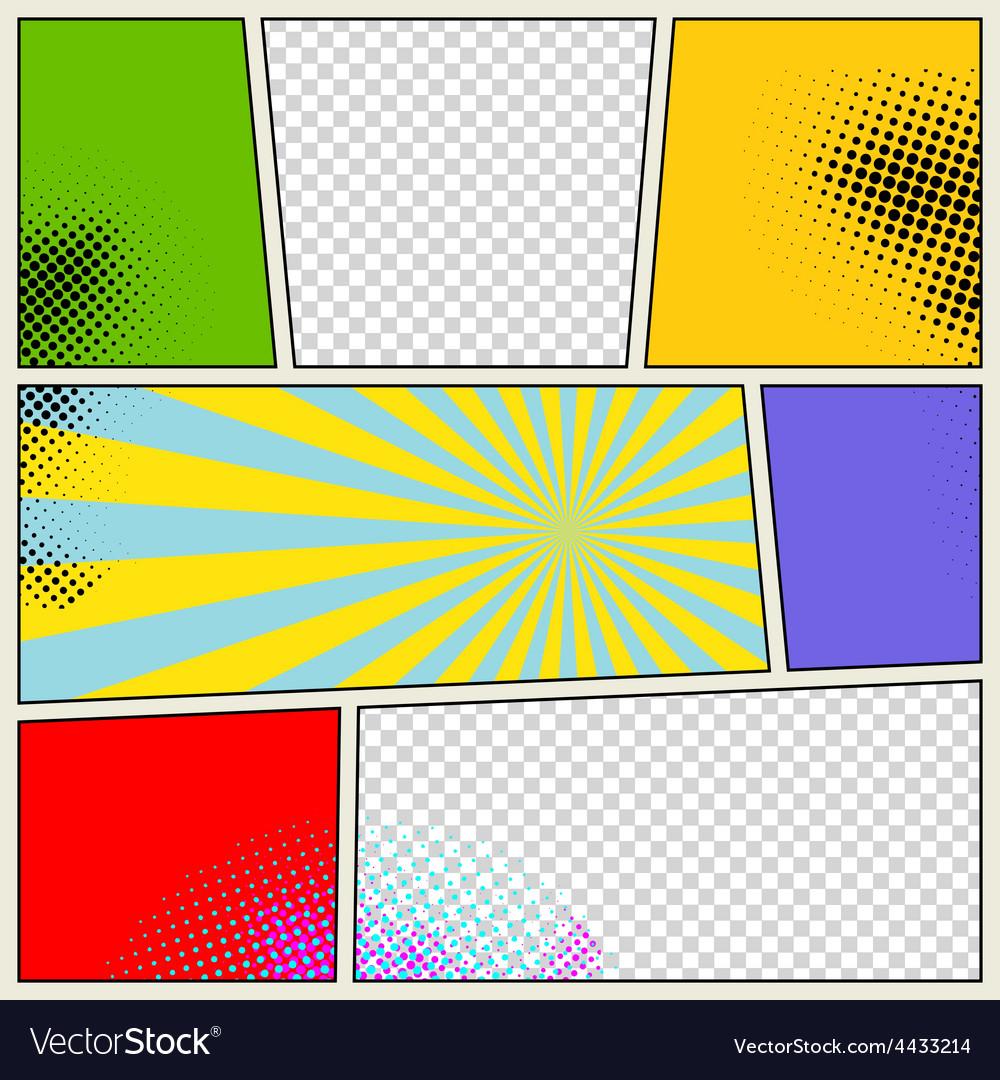 Retro comic book background vector | Price: 1 Credit (USD $1)
