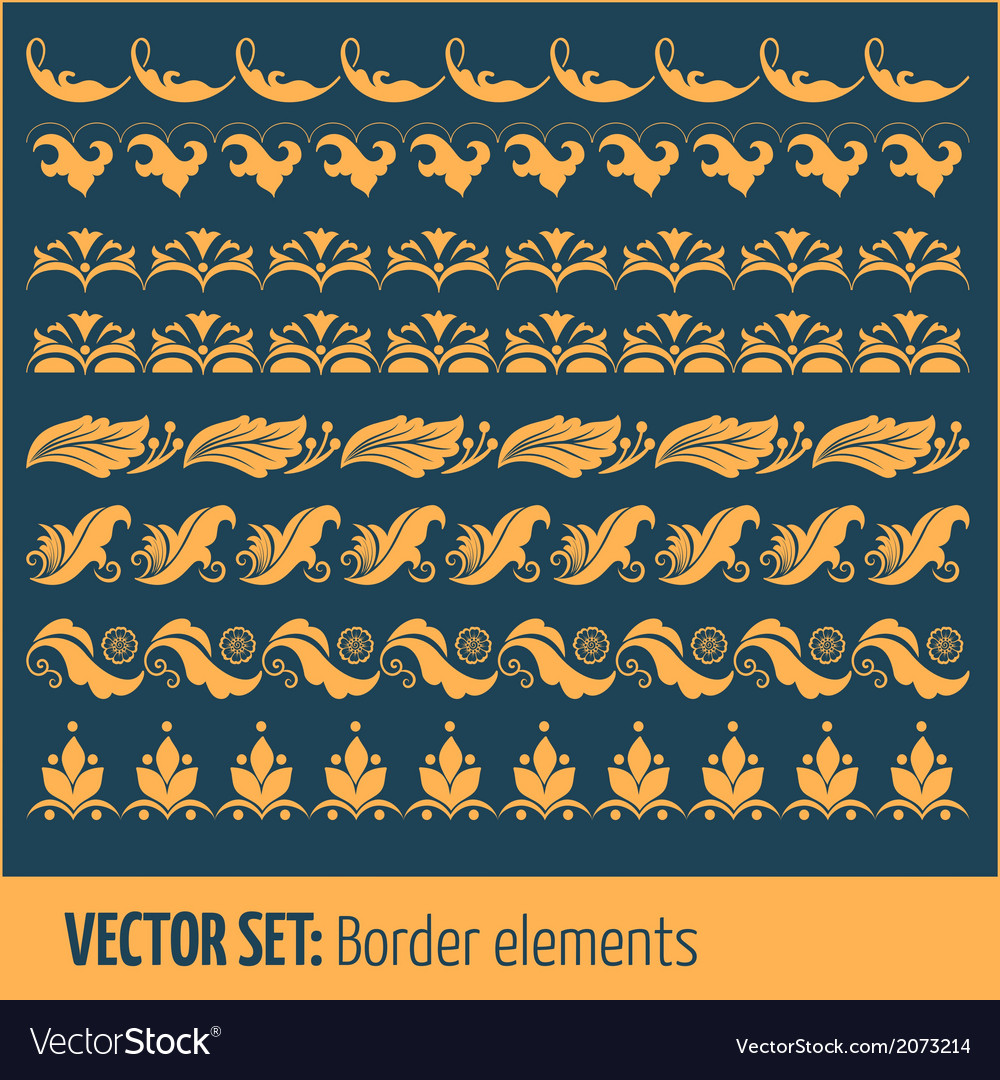 Set of border elements and page decoration vector | Price: 1 Credit (USD $1)