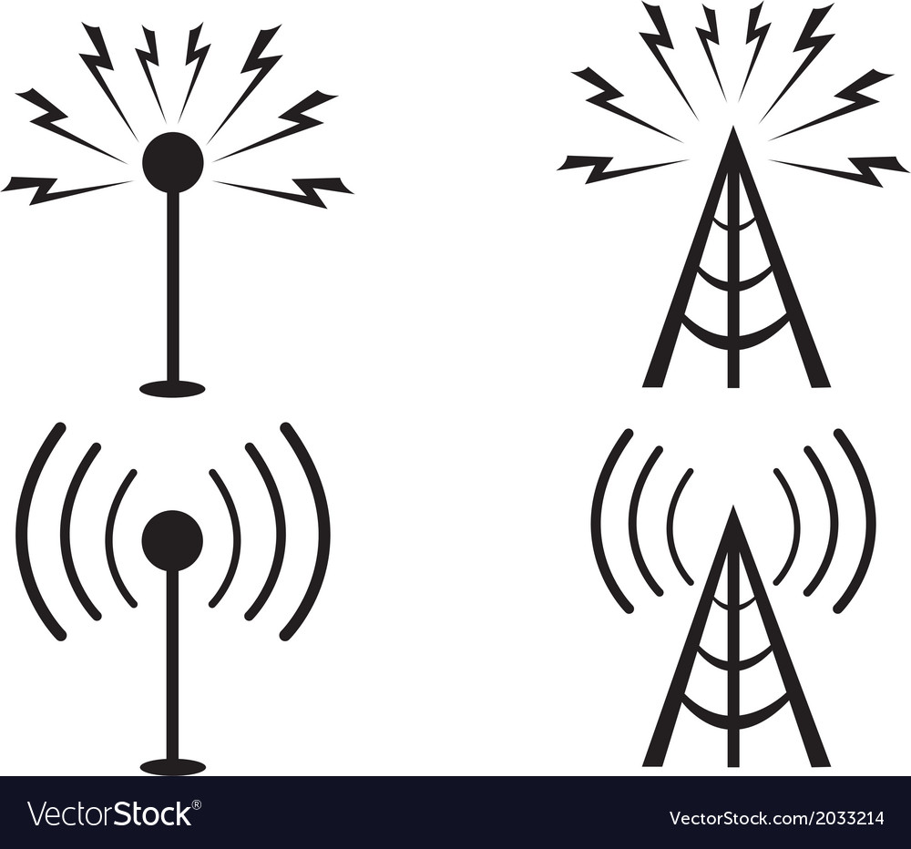 Signal towers vector | Price: 1 Credit (USD $1)