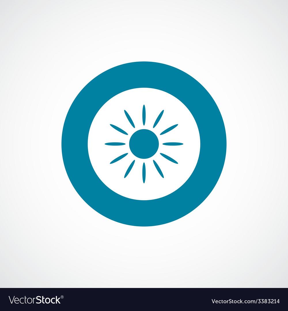 Sun bold blue border circle icon vector | Price: 1 Credit (USD $1)