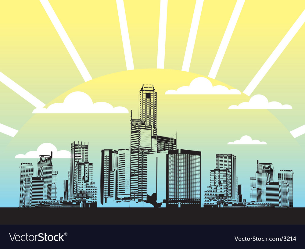 Urban city illustration vector | Price: 1 Credit (USD $1)