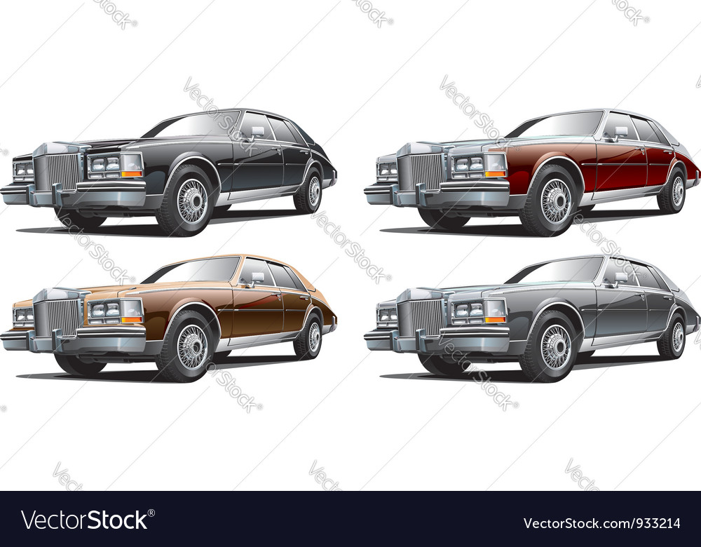 Vintage luxurious car vector | Price: 5 Credit (USD $5)