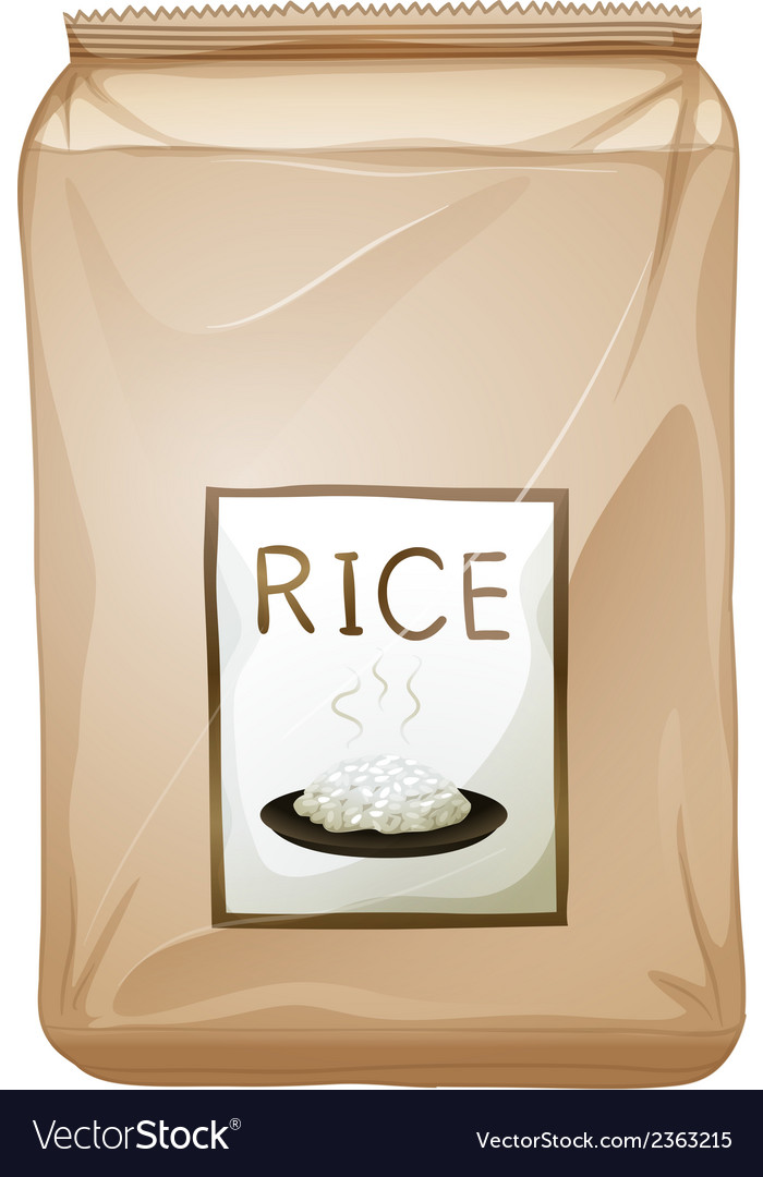 A packet of rice vector | Price: 1 Credit (USD $1)