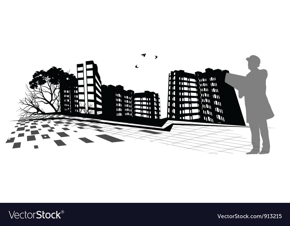 Broker skyscraper vector | Price: 1 Credit (USD $1)