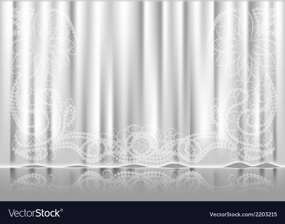 Curtain white vector | Price: 1 Credit (USD $1)