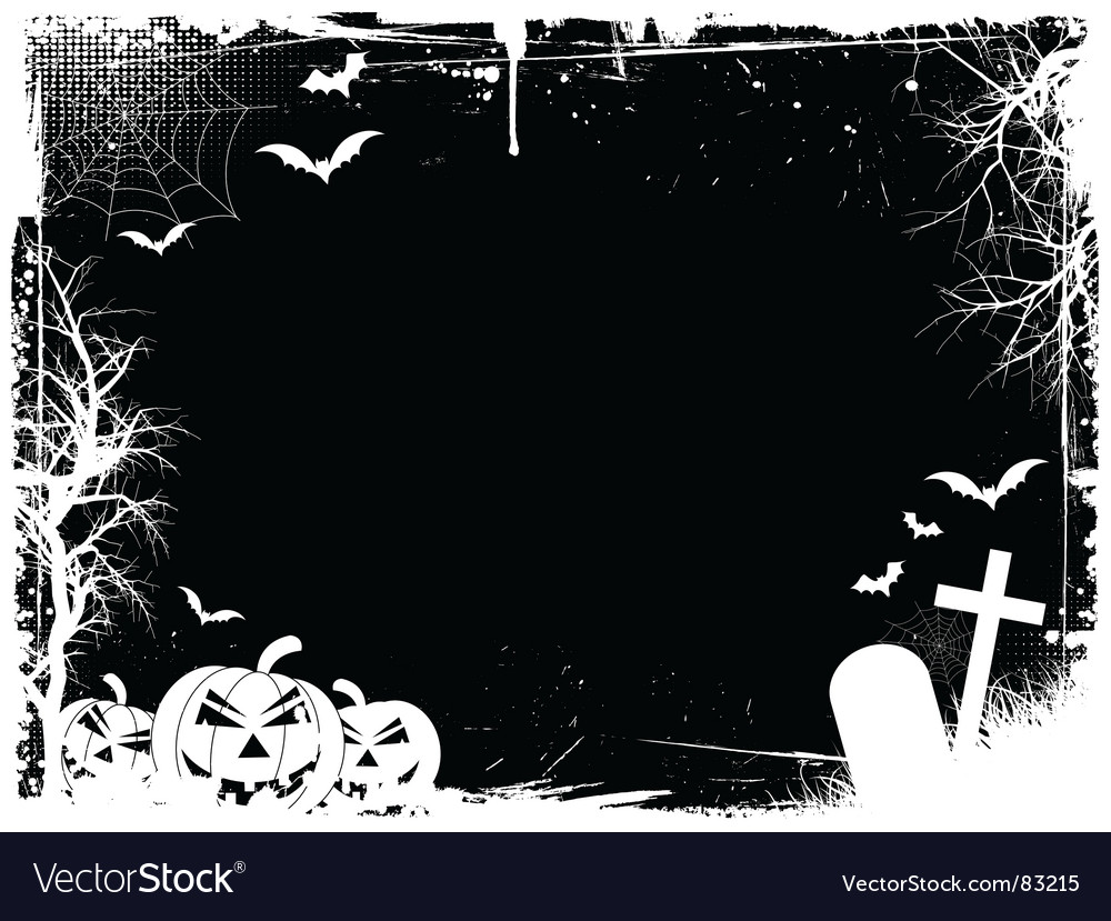 Grunge halloween border vector | Price: 1 Credit (USD $1)