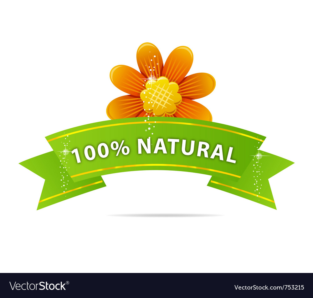 Nature and green ribbon sign vector   Price: 1 Credit (USD $1)