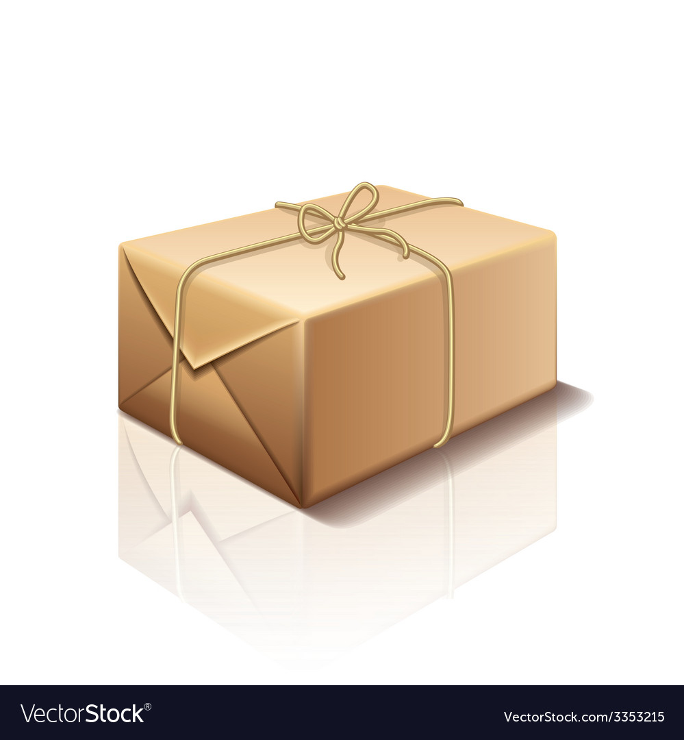Parcel box isolated vector | Price: 3 Credit (USD $3)
