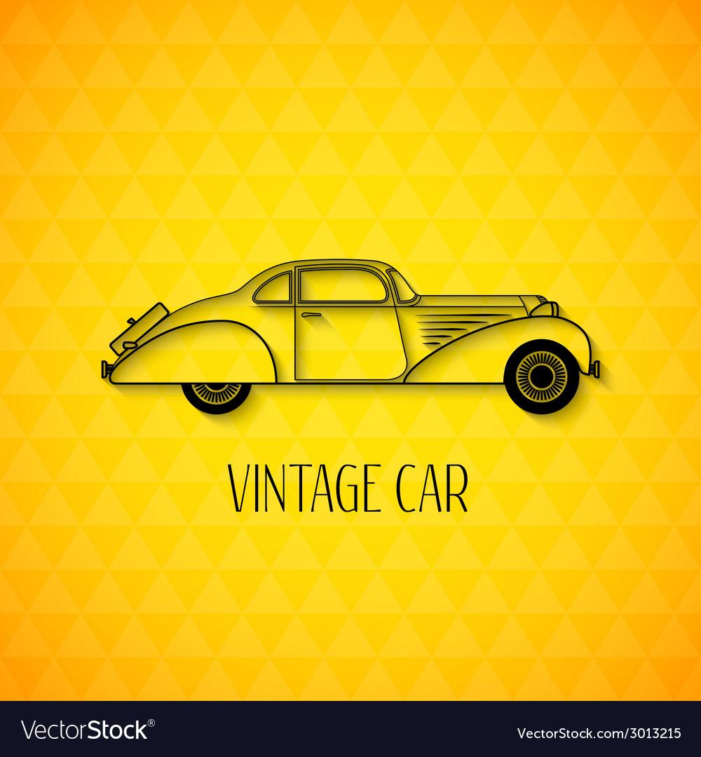 Retro car vintage outline style vector   Price: 1 Credit (USD $1)