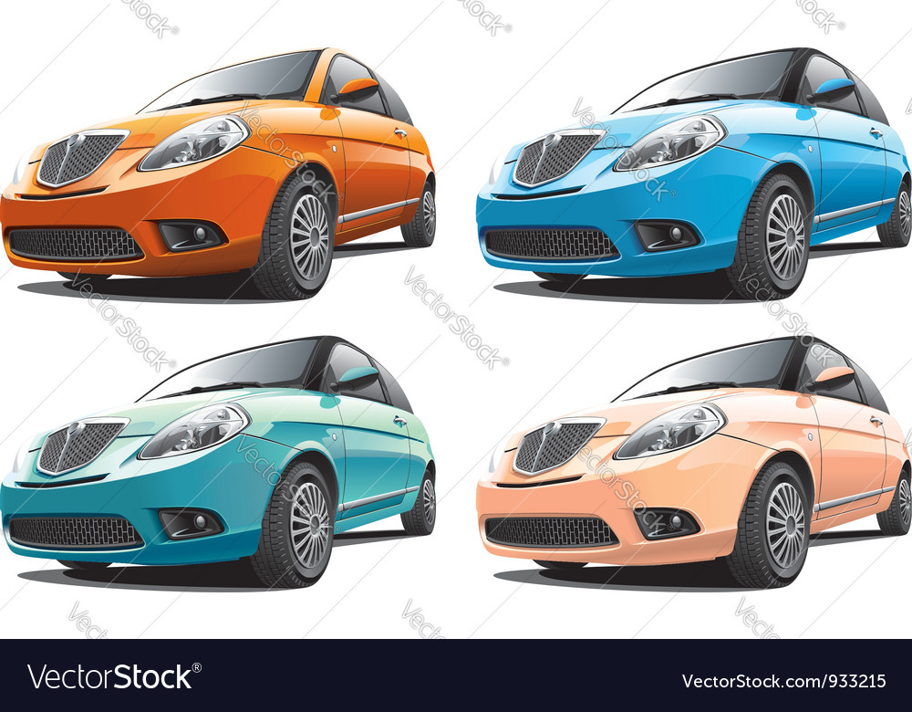 Small modern car no1 vector | Price: 3 Credit (USD $3)