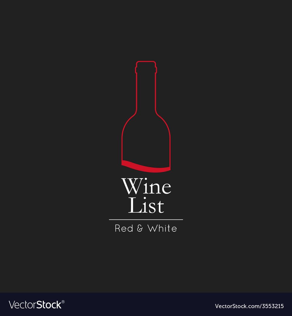Wine list menu card design template vector | Price: 1 Credit (USD $1)
