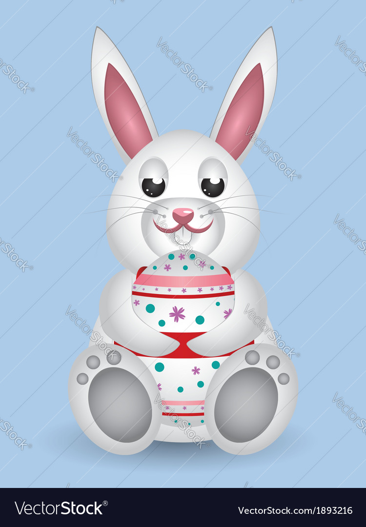 Bunny with easter egg vector | Price: 1 Credit (USD $1)