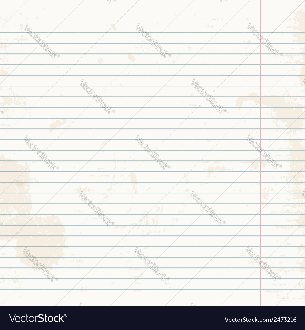 Clean sheet of exercise book striped vector | Price: 1 Credit (USD $1)