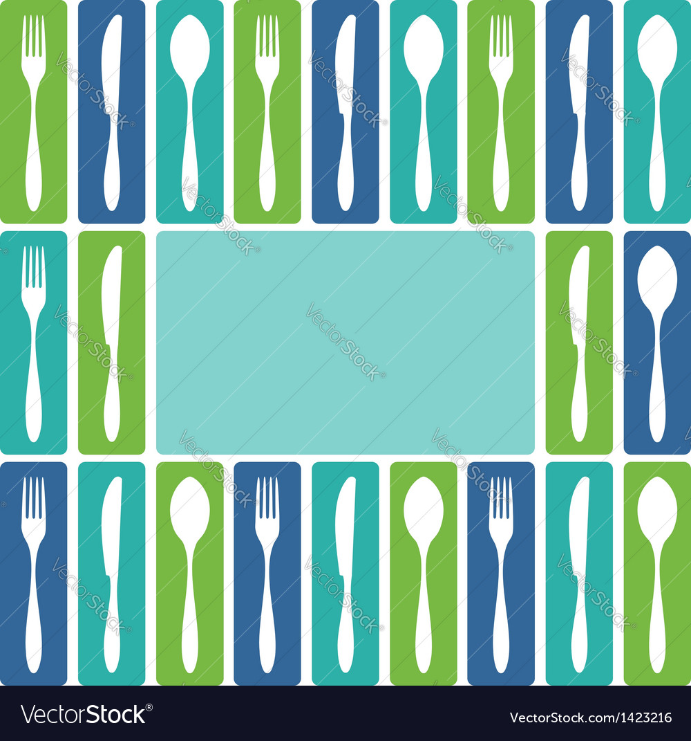 Cutlery frame vector | Price: 1 Credit (USD $1)