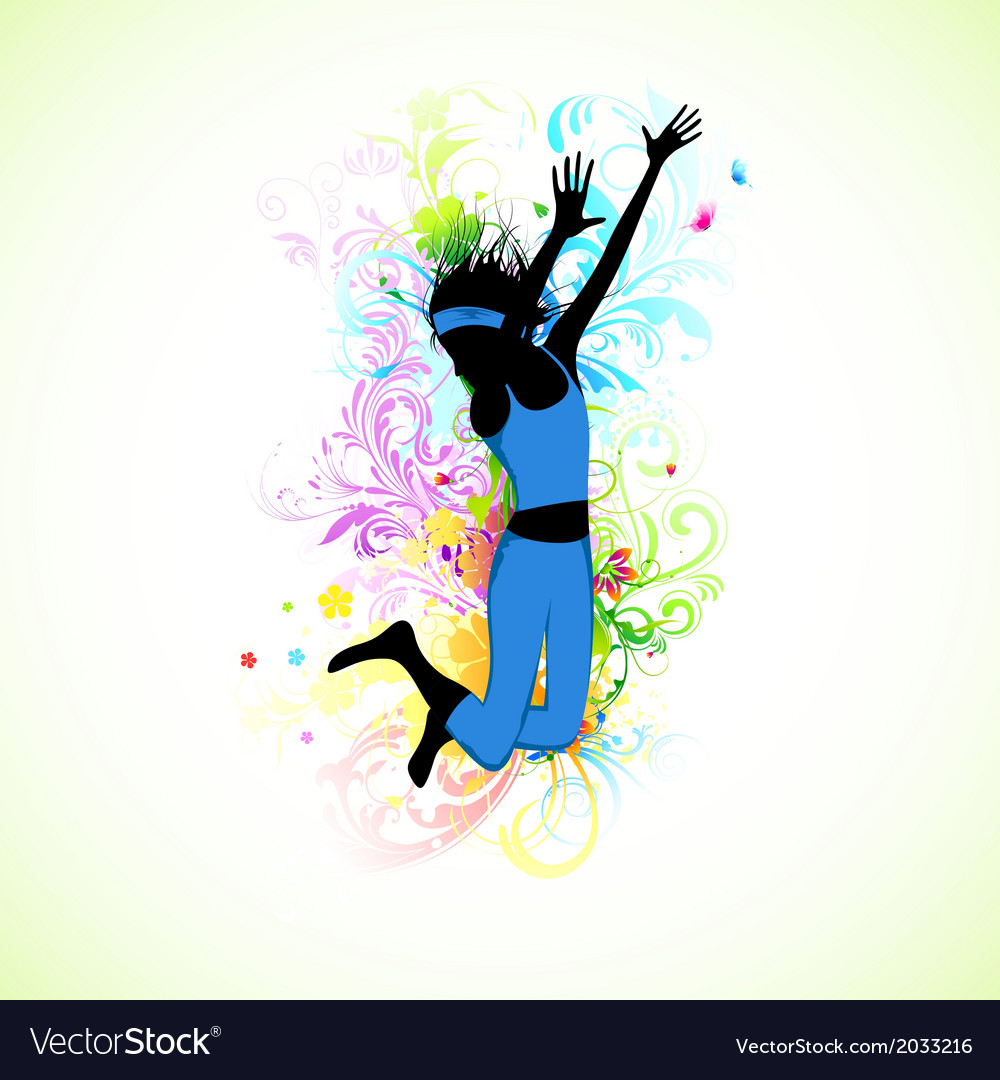 Female dancer vector | Price: 1 Credit (USD $1)