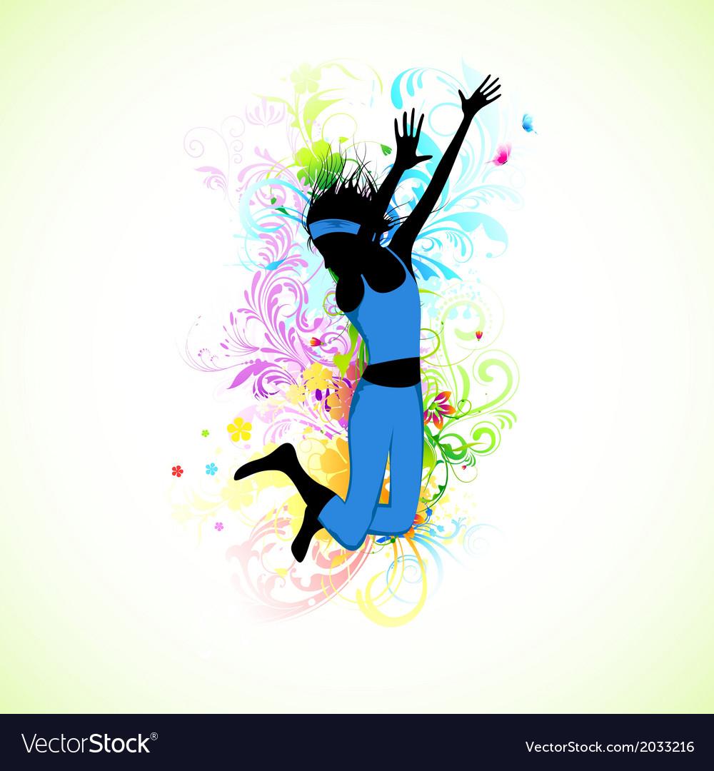 Female dancer vector | Price: 1 Credit (USD $1)