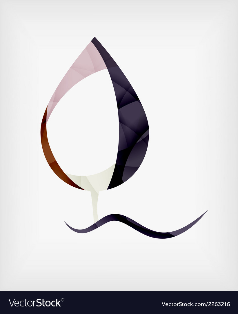 Flat design abstract leaf shape concept vector | Price: 1 Credit (USD $1)
