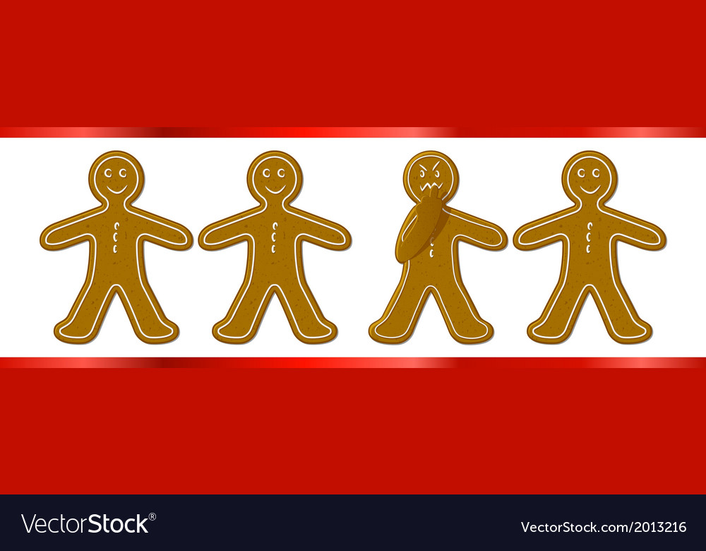 Gingerbreadman finger vector | Price: 1 Credit (USD $1)