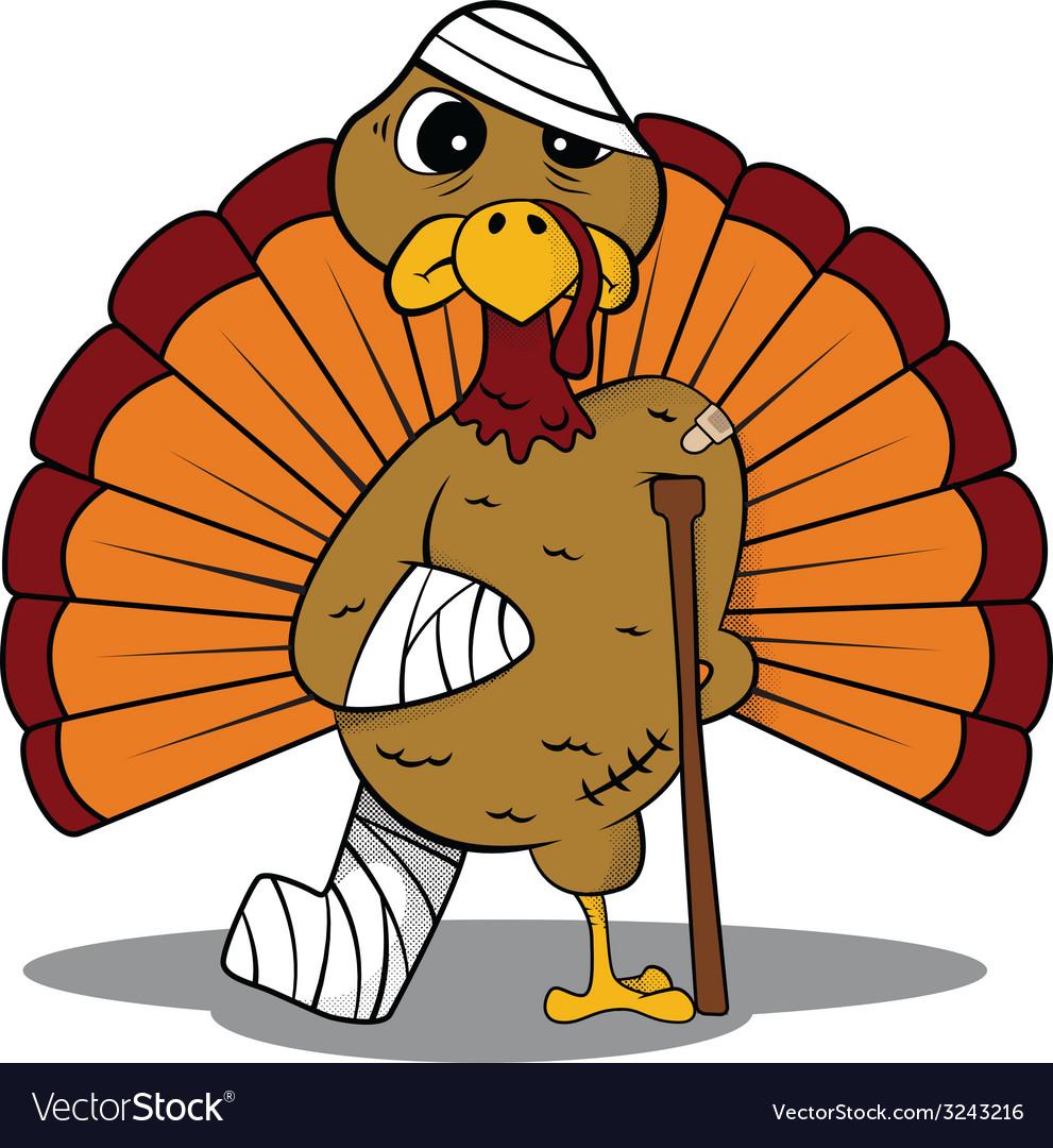 Injured turkey vector | Price: 1 Credit (USD $1)
