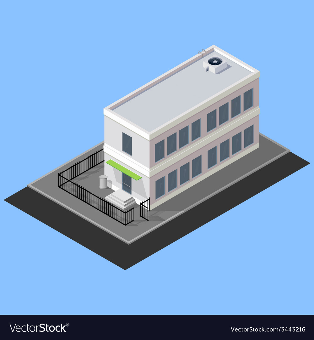 Isometric building vector | Price: 1 Credit (USD $1)