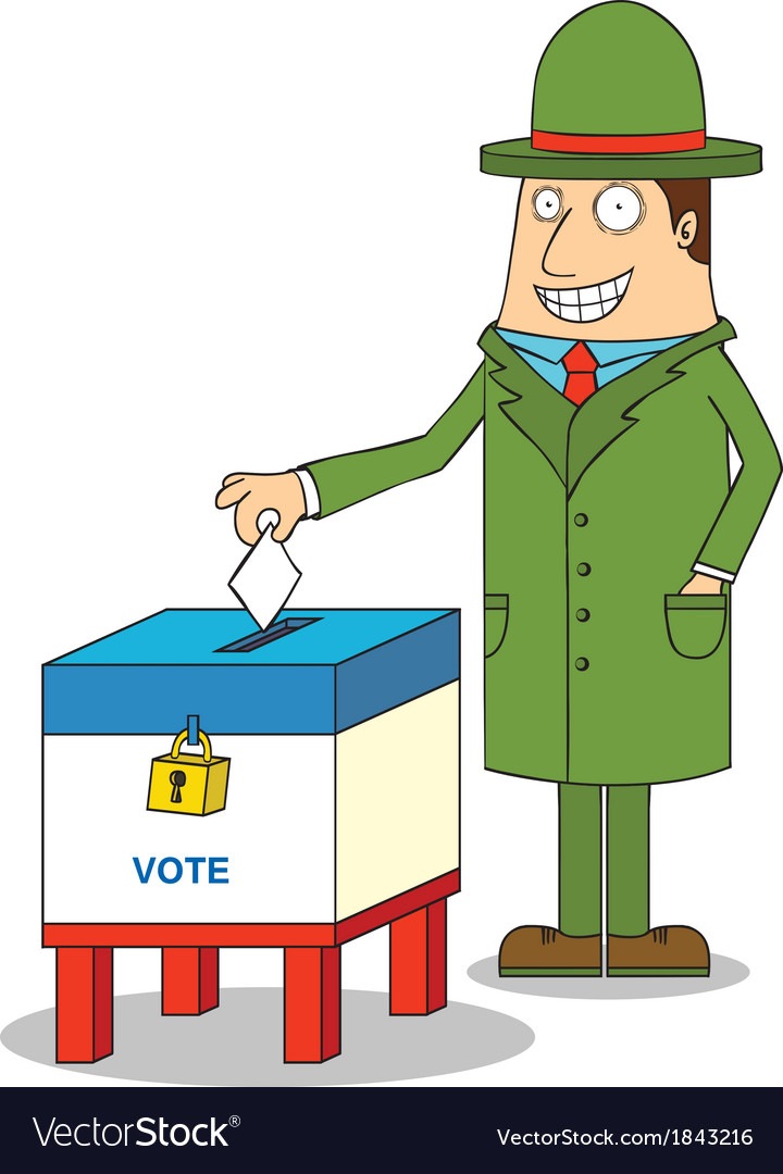 Man voting vector | Price: 1 Credit (USD $1)